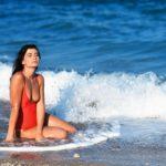 léto, moře, plavky, žena
